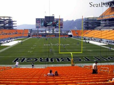 (2) Steelers vs Broncos Tickets Lower Level Section 122 row N!!