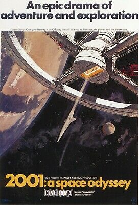 Vintage Movie Poster - 2001 A Space Odyssey - Stanley Kubrick (A4/A3 Poster)