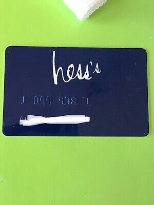 Hess's Department Stores (Allentown PA) Credit Card And Box