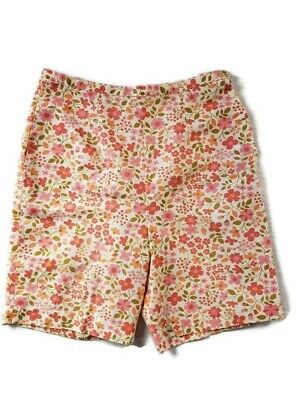 Vintage Womens  Shorts Peach Pink FLoral 1950's to 60's Sz sm