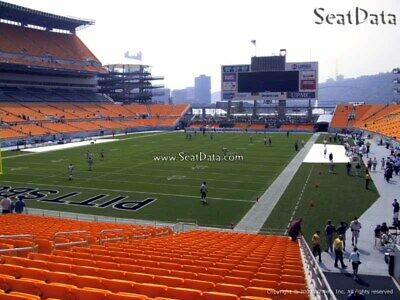 (6) Steelers vs Broncos Tickets Lower Level Aisle Seats @ Tunnel!!