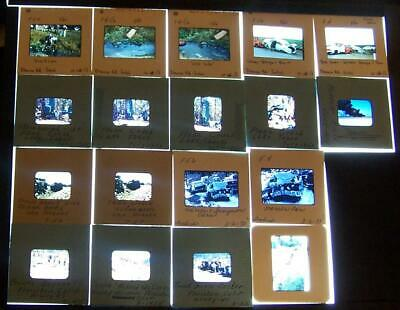 Accidents Plane Auto Train Truck Lot of 18 amateur 35mm and half frame Slides