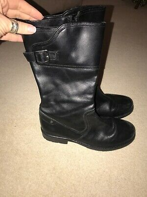 John Lewis boots size 4 Black Leather Girls Boots