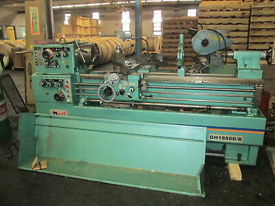 """Grizzly Ind G5962 18""""Swing 60""""Between Centers Removable Gap 220 3Ph Engine Lathe"""