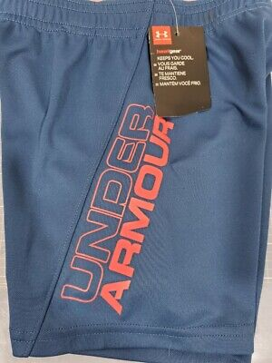 Boys Kids Youth Toddler Under Armour Shorts NEW  Petrol Blue Size 3T