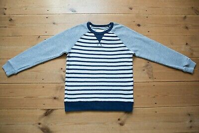 Boys Mini Boden Nautical Navy Stripe Jumper/Sweater.Childrens/Kids Age 7-8 Years