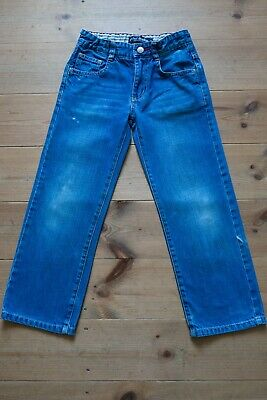 Boys MINI BODEN Cotton Denim Relaxed Fit Jeans. Adjustable Waist. Age 7 Years.