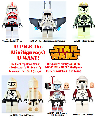 LEGO Star Wars CLONE TROOPER Minifigures (Group 1) **USED**