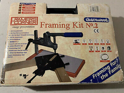 Vintage PICTURE FRAMING KIT Framing Kit No.2 - Hard Plastic Case Framers Corner