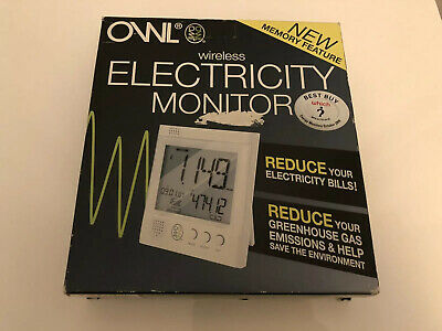 Owl Wireless Electricity Monitor Boxed Unused Memory Feature Free Postage
