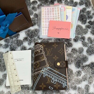 Auth Louis Vuitton Monogram Trunks Christmas Animation Trunks Agenda PM Cover