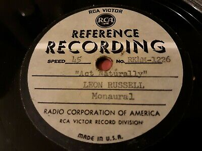 Leon Russell Produced Acetate 4 Unreleased Betty Willis 45 rpm RCA REFERENCE LBL