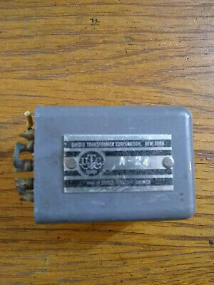 United Transformer Corporation UTC A-24 Used Transformer Audio