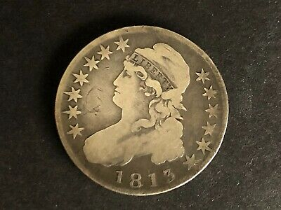 1813 U.s. Capped Bust Silver Half Dollar Vg / F Nice Looking