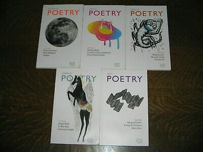 POETRY MAGAZINE Lot of 5 Issues 2016-2017 February March May July/August Novembe