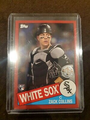2020 Topps Series 1 ZACK COLLINS 1985 White Sox Rookie Insert Red Parallel /10