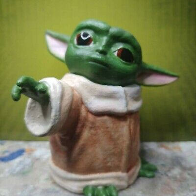 The Child Baby Yoda Resin casted from a 3D print printed Figure Mandolorian