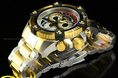 Invicta 63mm Reserve Grand Octane Arsenal Joker Dial Swiss Two Tone 18KGP Watch