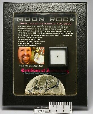 Genuine MOON ROCK FROM LUNAR METEORITE NWA 8682 MT21