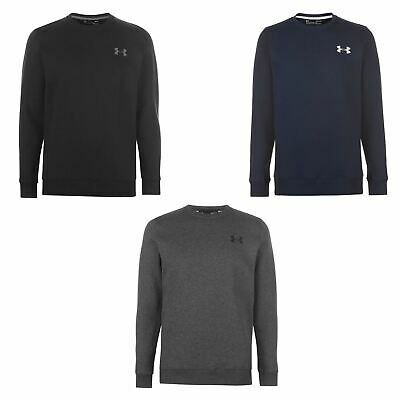 Under Armour Rival Fitted Crew Sweater Mens Top Jumper Pullover