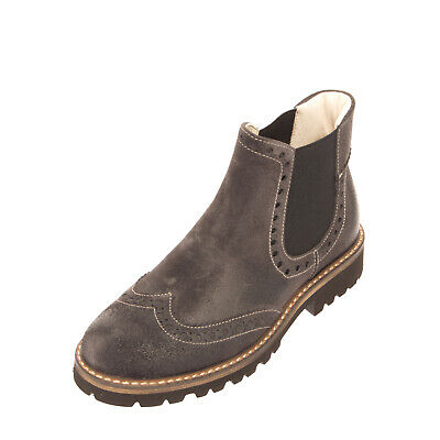 RRP€140 MONTELPARE TRADITION Leather Chelsea Boots EU28 UK10 US11 Treated Brogue