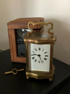 Antique French Brass Gorge Cased Carriage Clock c.1900