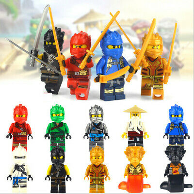 2020 New 10 Sets Ninjago Jay Cole Kai Pythor Ninja Mini figures Building Toys