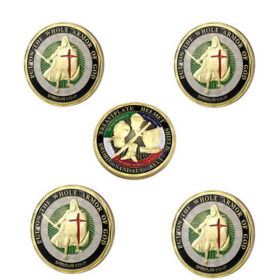 5PCS Put on the Whole Armor of God Commemorative Challenge Coin