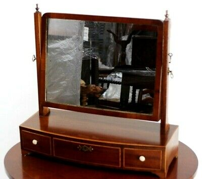 Antique Victorian Dressing Table Mirror - FREE Shipping [5927]