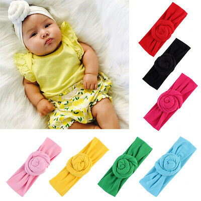 Cute Kid Girl Baby Infant Newborn Flower Floral Hair Band Headband Headwear