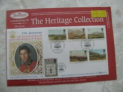 Stamps Benham Silk Collection  Fdc 25Th Anniv. Investiture Hrh P. Of Wales 1994