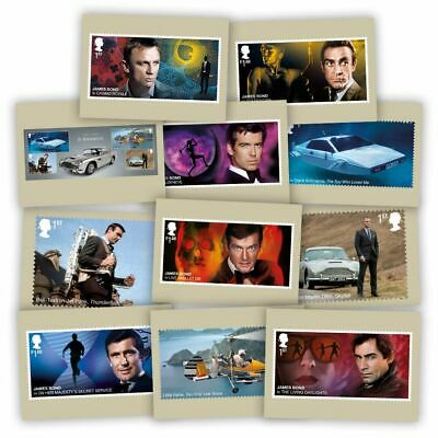 GREAT BRITIAN 2020 James Bond - Postcards (11 in set)  PRE ORDER issue 17-3-'20