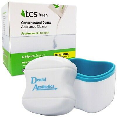 TCS & Denture Bath ~ 24 Weekly Sachets Cleaning Flexible Dentures Cleaner
