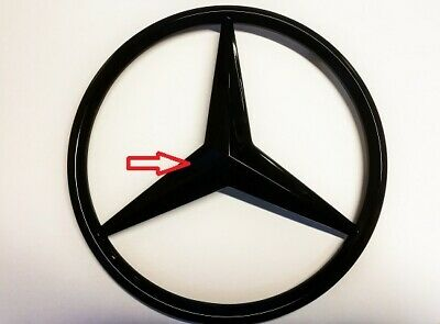 Mercedes Front Grill Star Badge Gloss Black Damaged Fits A C B E Cla Cls Gla