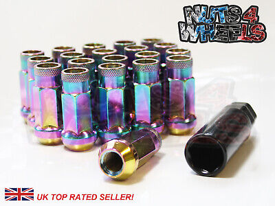 20 x NeoChrome GT50 Wheel Nuts Fits Ford Ranger with Aftermarket Alloys