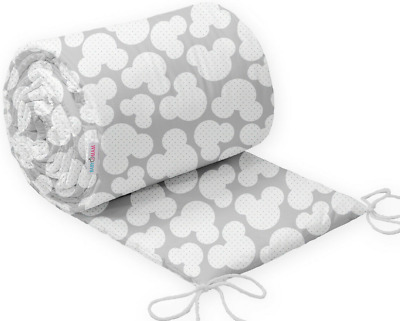 Baby Bedding Bumper 420 cm Allround CotBed Mouse Grey
