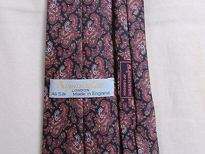 VINTAGE TIE  AQUASCUTUM   All Silk    made in England