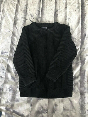 NEXT Kids Boys Neck Long Sleeve Knitted Jumper Fit Age 5 Years Worn Once Black
