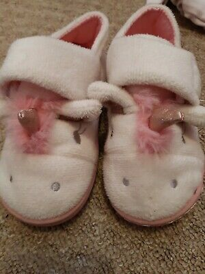 Girls NEXT unicorn slippers size 8
