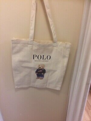 Designer Ralph Lauren Polo Canvas Teddy Bear Tote Bag Free Postage
