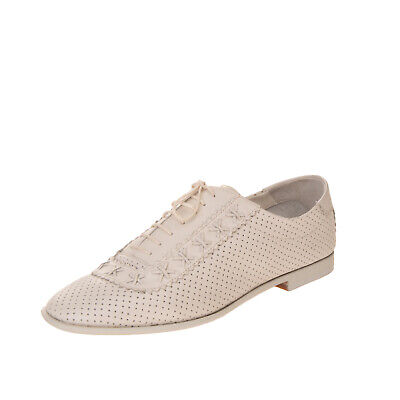 RRP€330 EMPORIO ARMANI Leather Oxford Shoes EU 37 UK 4 US 7 Openwork Pinked Trim