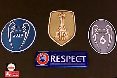 UEFA champions league 2019/20 Patch Badge Respect World Club Cup Liverpool LFC