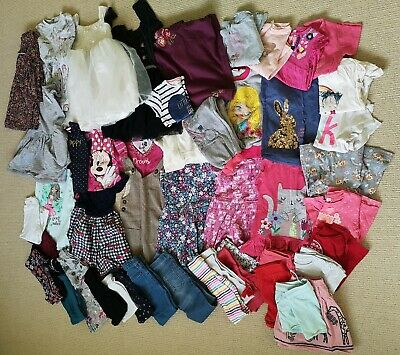 girls clothes bundle age 4-5 years tops dresses leggings Next Tu intenso m&s