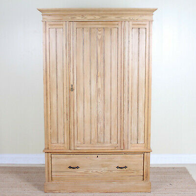 Antique Edwardian Pine Wardrobe Arts & Crafts Fine Quality Compactum Armoire
