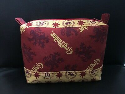Harry Potter Gryffindor Fabric Zippered Pencil Case Make up Jewellery Bags NEW