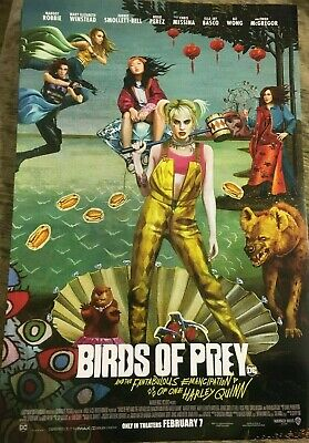 BIRDS OF PREY ORIGINAL Movie Poster Fantabulous One Harley Quinn dc NR MINT