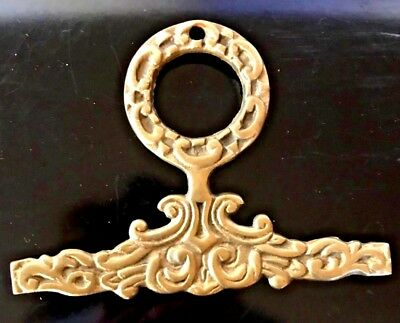 Antique Brass Ormolu Fancy Raised Relief Ornate Wall Picture Hanger