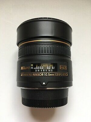Nikon Nikkor AF 10.5mm f2.8G ED DX Fisheye Lens Lightly Used Mint Condition!!