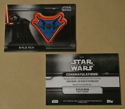 Topps STAR WARS THE RISE OF SKYWALKER MOVIE - PATCH CARD   PC-TF KYLO REN