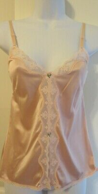 """MAIDENFORM """"DELECTABLE"""" 65103 nylon and LACE slip top camisole sz 32 / S MINT"""